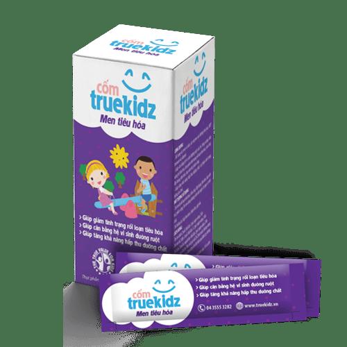 Truekidz men tiêu hóa trị rối loạn tiêu hóa như tiêu chảy